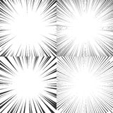 Radial speed lines for comics, manga, pop art. Set of vector il. Radial speed lines for comics, manga, anime. Black diverging rays on a white background. Set of stock illustration