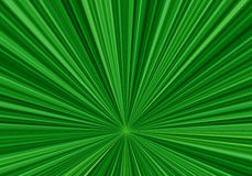 Radial speed lines with a downwardly shifted center. Abstract fractal background with bright green rays. Zoom effect Royalty Free Stock Photography