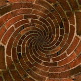 Radial spiral brick pattern Royalty Free Stock Photography