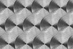 Radial stainless steel surface Royalty Free Stock Photos
