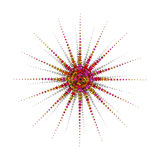 Radial Star Colors Stock Image