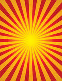 Radial Sun Burst (Star Burst). Bright yellow and red radial sun burst (start burst Royalty Free Stock Image