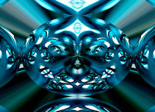 Radial Symmetric Photo of Glass Mobile. This is a method of producing radial symmetric images from sections of a large portfolio of normally exposed images Royalty Free Stock Image