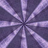 Radial purple textile starburst pattern stock image