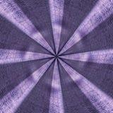 Radial purple textile starburst pattern Stock Image