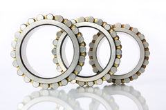 Radial - thrust bearings. It shows three radial - thrust bearing on a white background royalty free stock photography