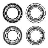 Radial tubeless tyre symbols Royalty Free Stock Image
