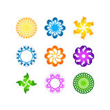 Radial vector pattern floral color colorful 1 vector illustration