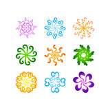 Radial vector pattern floral color colorful 3 royalty free illustration