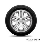 Radial wheel car alloy with tire vector. Stock Photography