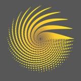 Radial-wireframe ein Gitter von orange Linien und von Streifen auf einer dunklen Hintergrund Polygonkreismustergestaltungselement vektor abbildung
