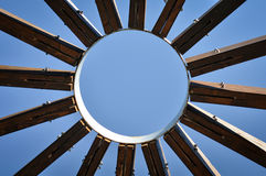 Radial wood jointing Royalty Free Stock Images