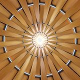 Starburst Wood Pattern Stock Image