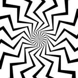 Radial, zeichnet das Ausstrahlen mit gewelltem, Zickzackverzerrung lizenzfreie abbildung