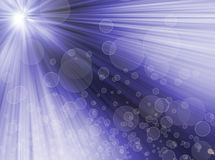 Radiale abstracte blauwe achtergrond. lichte bokeh.blur. Royalty-vrije Stock Fotografie