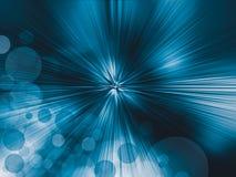 Radiale abstracte blauwe achtergrond, vakantiekaart Royalty-vrije Stock Foto's