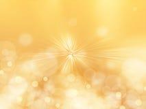 Radiale abstracte gele achtergrond Stock Foto's