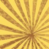 Radiale gele en bruine achtergrond met stralen van perspectief royalty-vrije illustratie