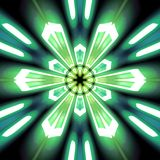 Radiale groene en wintertalingsuitbarsting vector illustratie