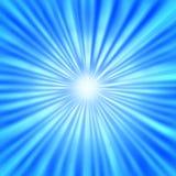 Radiale Heldere Stralen op Blauwe Achtergrond vector illustratie
