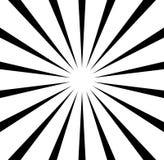 Radiale lijnen starburst, zonnestraalpatroon Zwart-witte circul vector illustratie
