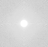 Radiale lijnen starburst, zonnestraalpatroon Zwart-witte circul Royalty-vrije Stock Foto's