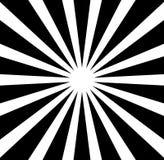 Radiale lijnen starburst, zonnestraalpatroon Zwart-witte circul Royalty-vrije Stock Fotografie