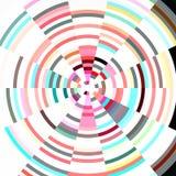 Radiale pastelkleur abstracte achtergrond Stock Foto's