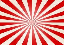 Radiale Rode en Beige Strepen stock illustratie