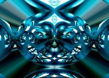 Radiale Symmetrische Mobiele Foto van Glas Royalty-vrije Stock Afbeelding