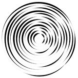 Radiallinien mit drehender Verzerrung Abstrakte Spirale, Turbulenz s stock abbildung