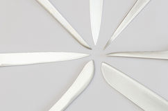 Radially arranged kitchen knife blades Stock Images