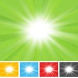 Radialsonnendurchbruch-Hintergrund Lizenzfreies Stockbild