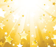 Radiant Background With Stars Stock Images