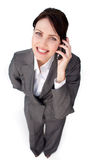 Radiant businesswoman on phone Stock Image