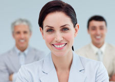Radiant businesswoman standing Royalty Free Stock Photo