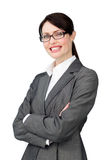 Radiant businesswoman wearing glasses Royalty Free Stock Images