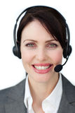 Radiant customer service agent Royalty Free Stock Photos