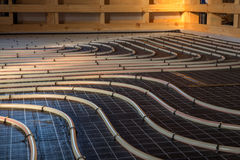 Radiant floor heating system Royalty Free Stock Images