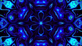 Radiant light that governs subtle, colorful movements with a flower shape, black background