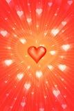Radiant love. Graphics Royalty Free Stock Photo