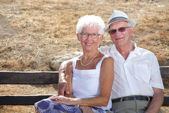 Radiant senior couple Stock Photos