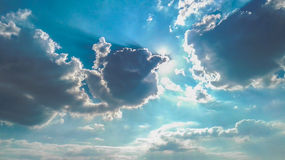 Radiant sky with shadows of clouds Royalty Free Stock Photos