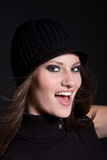Radiant smile. Beautiful brunette with a radiant and happy smile Royalty Free Stock Images