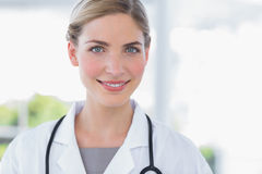Radiant woman doctor Royalty Free Stock Photos