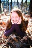 Radiante bonito del adolescente con felicidad Imágenes de archivo libres de regalías