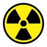 Radiação - sinal redondo Foto de Stock Royalty Free