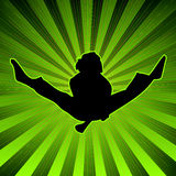 Radiate activejump Royalty Free Stock Photo