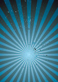 Radiate blue grunge light Stock Photography