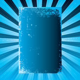 Radiate cool. Cool blue background with plenty of blank copy space on a radiating design Royalty Free Stock Photos
